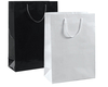 A8034BK - Large Black Paper Bag  - Glossy - Packet of 10