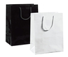 A8033BK - Medium Black Paper Bag - Glossy - Packet of 10