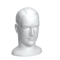B7517WH - Male Foam Display Head - 320mm High