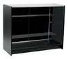 FB5000BK - Glass Showcase with 2 Shelves - 1200mm x 500mm x 940mm High - Black