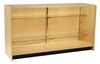 FB5100BH - Glass Showcase with 2 Shelves - 1800mm x 500mm x 940mm High - Beech