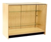 FB5000BH - Glass Showcase with 2 Shelves - 1200mm x 500mm x 940mm High - Beech