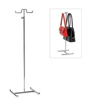 M2820CH - Handbag Display Stand Double Sided - 510-920mm Adjustable - Chrome