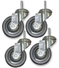 WSWheel3 - Set of 4 x 75 mm Heavy Duty Wheels for WS series - Wire Shelf System