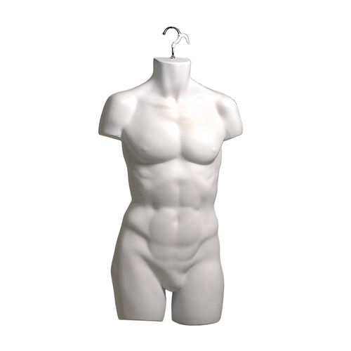 B9034WH - Male M-L Torso Front with Hanging Hook