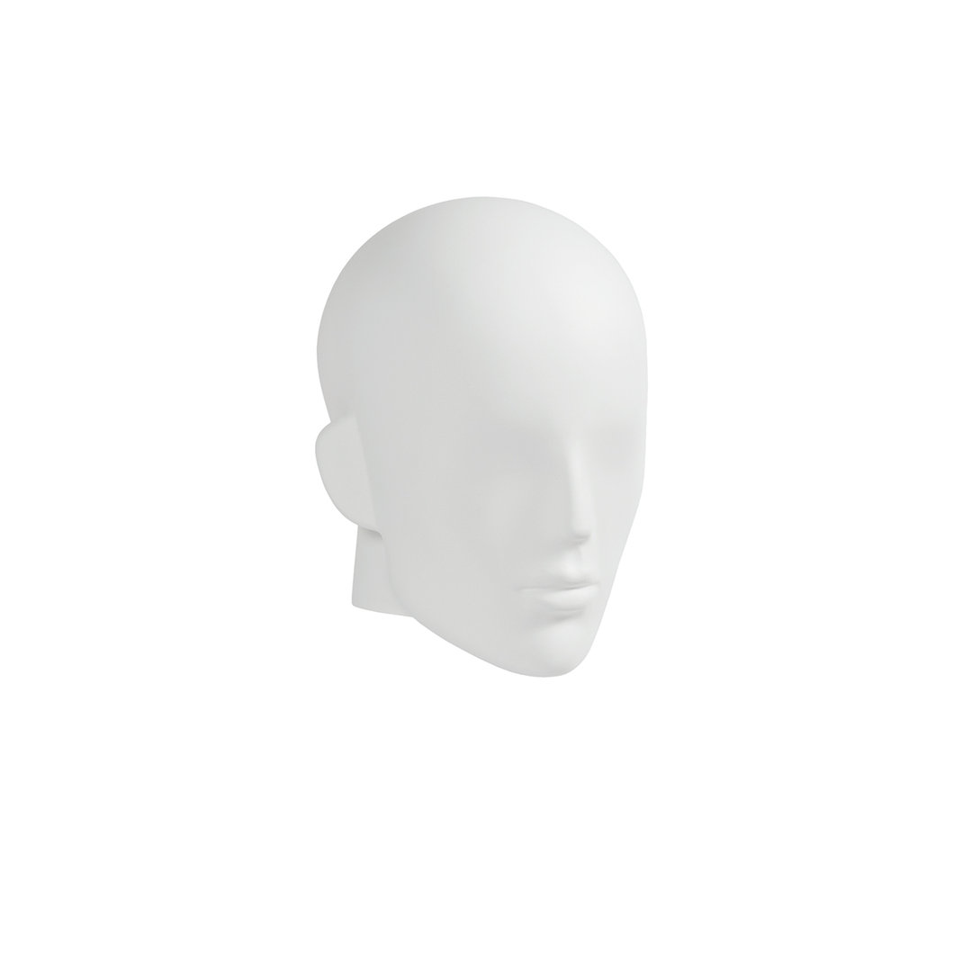 B9432WH - Semi-Abstract Head to suit Plastic Male Mannequins