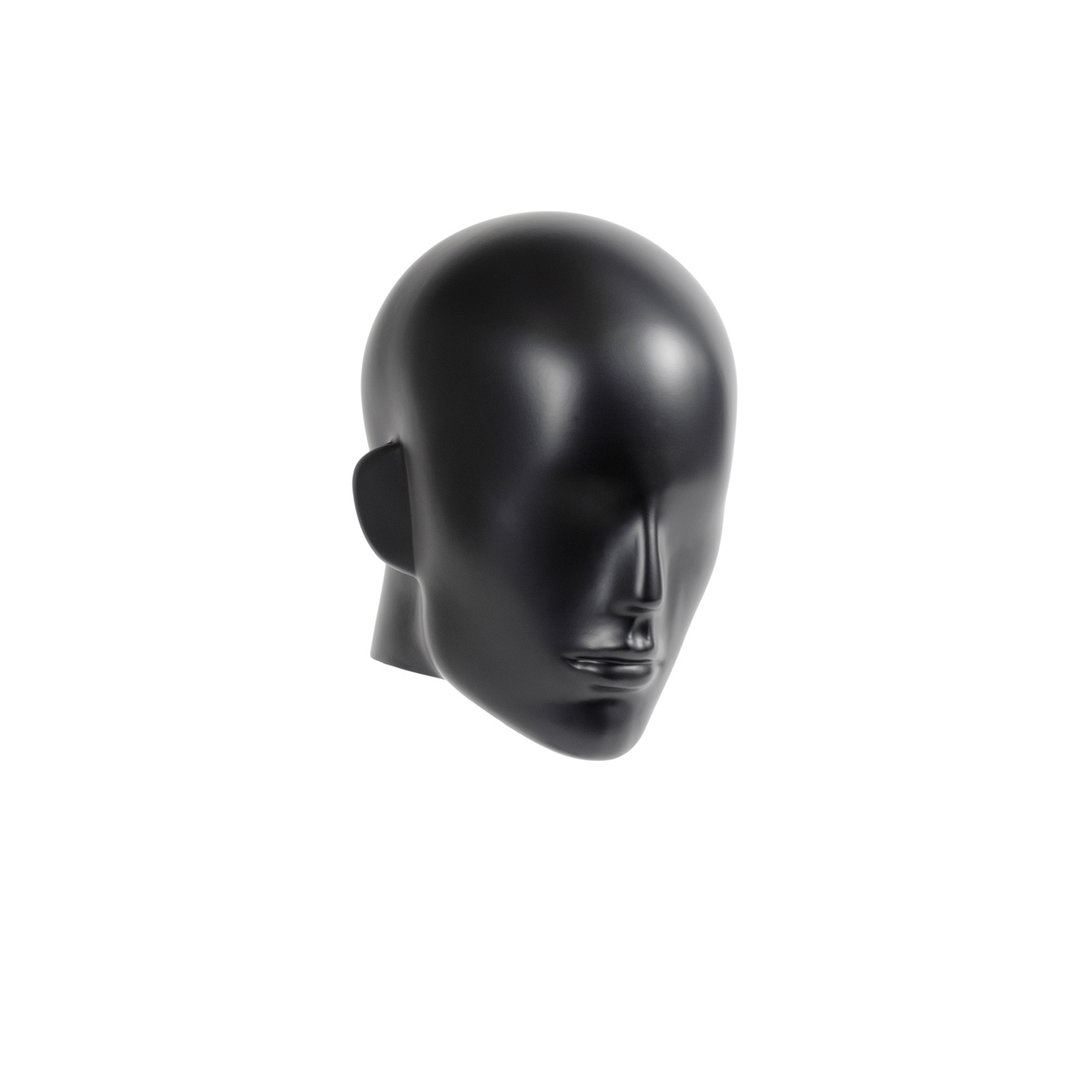B9432BK - Semi-Abstract Head to suit Plastic Male Mannequins