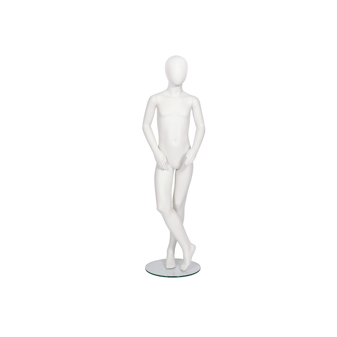 B8584SW - Style Child Mannequin 8 Y/O Pose 4 Abstract Head with Base