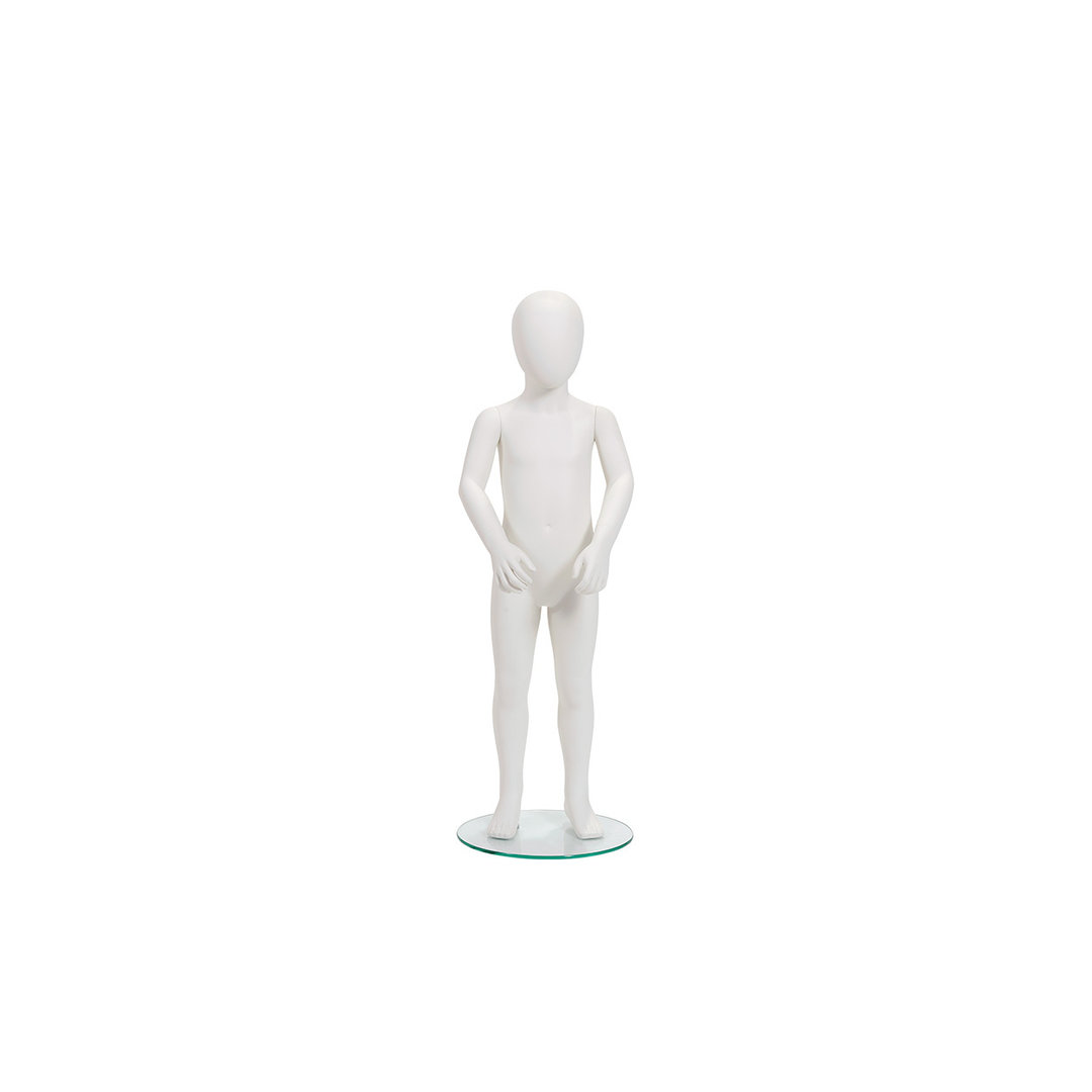 B8581SW - Style Child Mannequin 4 Y/O Pose 1 Abstract Head with Base