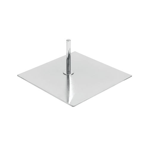 B7602SC - Base For Torso Or Busts with Spigot & 900mm Pole - Satin Chrome