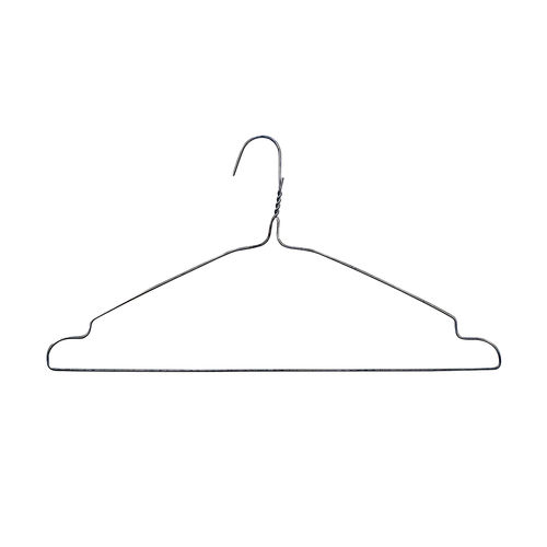 H3108SC - Dry Cleaner Style Metal Wire Hanger with Notches